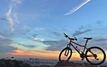 Griffith Park bike at sunset