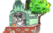 Miniature Schnauzer at the Vision Theatre in Leimert Park | Illustration by Max Kornell
