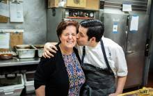 Chef Luca Moriconi and his mother Grazia at Culina