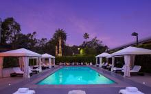 Luxe Sunset Boulevard pool at night