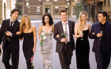 """Friends"" cast at Warner Bros. Studio"