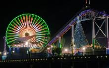 Holidays on the Santa Monica Pier