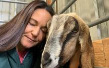 Live healing meditation with Ellie Laks and Pebbles at The Gentle Barn