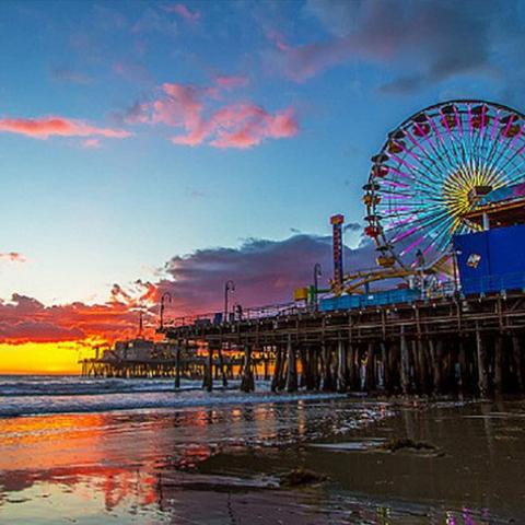 "Santa Monica Pier | Photo courtesy of Shabdro Photo, <a href=""http://www.flickr.com/photos/shabdro/8486696357/"" target=""_blank"">Flickr</a>"